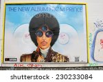 """Small photo of CIRCA OCTOBER 2014 - BERLIN: a poster of an advertisement for an upcoming concert of """"Prince"""", Berlin."""