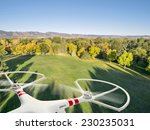 Drone Flying Over A Park In...