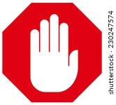 stop hand sign | Shutterstock .eps vector #230247574