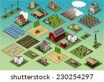 isometric building farm... | Shutterstock . vector #230254297