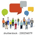 multiethnic diverse colorful... | Shutterstock . vector #230256079