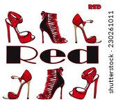 high heel red shoes