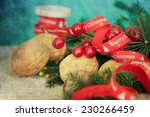christmas composition  | Shutterstock . vector #230266459