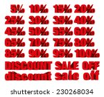collection of discount numbers... | Shutterstock .eps vector #230268034