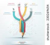 modern infographic template... | Shutterstock .eps vector #230269654
