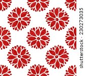 floral seamless pattern of red... | Shutterstock .eps vector #230273035