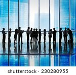 silhouette group of business... | Shutterstock . vector #230280955