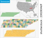 map of tennessee state designed ... | Shutterstock .eps vector #230283469