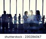 silhouettes of multi ethnic... | Shutterstock . vector #230286067