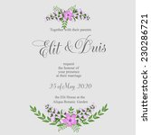 wedding invitation or card with ... | Shutterstock .eps vector #230286721