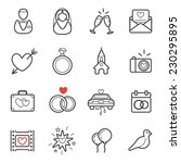 all kinds of wedding marriage... | Shutterstock .eps vector #230295895