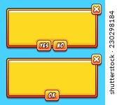 yellow game interface panels ui ...
