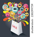 shopping bag with sale text and ... | Shutterstock .eps vector #230299759
