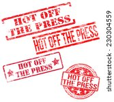 hot off the press stamps stamps.... | Shutterstock .eps vector #230304559