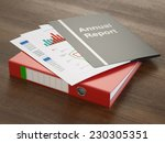 annual report folders with... | Shutterstock . vector #230305351