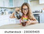 little beautiful smiling girl... | Shutterstock . vector #230305405
