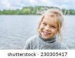 Little Cheerful Beautiful Girl...