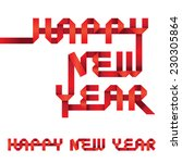 happy new year origami style | Shutterstock .eps vector #230305864
