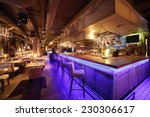 Stock photo beautiful brand new european restaurant in downtown 230306617