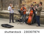 Street Musicians In The Center...