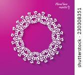 circular openwork element  ... | Shutterstock .eps vector #230308351