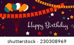happy birthday card design with ... | Shutterstock .eps vector #230308969