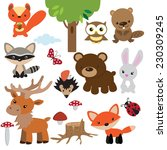 forest animal vector... | Shutterstock .eps vector #230309245