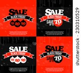 set of 4 black friday sale... | Shutterstock .eps vector #230310529