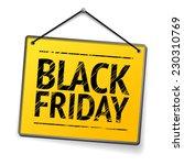 black friday   yellow door sign | Shutterstock .eps vector #230310769