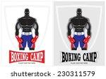 Постер, плакат: Muscular man with gloves