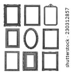 vintage black frames on white... | Shutterstock . vector #230312857