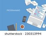 programming coding flat concept ... | Shutterstock .eps vector #230313994