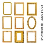 Diferent Shape Golden Frames O...