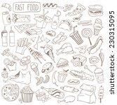 set of various doodles  hand... | Shutterstock .eps vector #230315095