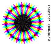 rainbow waves generated texture | Shutterstock . vector #230315935