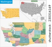 map of washington state... | Shutterstock .eps vector #230316169