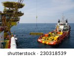 cargo being loaded from a... | Shutterstock . vector #230318539