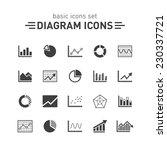 diagram icons set. | Shutterstock .eps vector #230337721