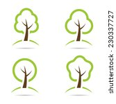 tree icons. | Shutterstock .eps vector #230337727
