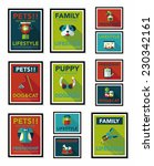 pet poster flat banner design... | Shutterstock .eps vector #230342161