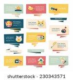 pet flat banner design... | Shutterstock .eps vector #230343571