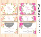 wedding invitation cards with... | Shutterstock .eps vector #230347669