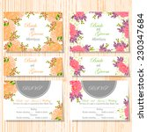 wedding invitation cards with...   Shutterstock .eps vector #230347684