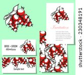 wedding invitation cards with... | Shutterstock .eps vector #230348191