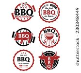 illustration set of bbq labels. ... | Shutterstock .eps vector #230348449