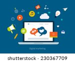 set of flat design concept... | Shutterstock .eps vector #230367709