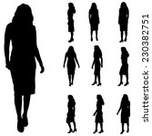 vector silhouette of a woman on ... | Shutterstock .eps vector #230382751
