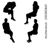 vector silhouette of people who ... | Shutterstock .eps vector #230382865