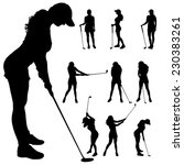 Vector Silhouette Of The Woman...