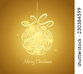 christmas bauble | Shutterstock .eps vector #230384599